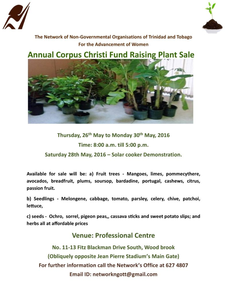Flyer for Network's Annual Corpus Christi Sale, 26th May to 30th May 2016
